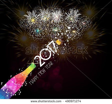 new year champagne toast 2017 background