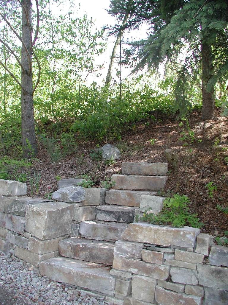 Castle Rock and Moose Mountain Drystack Retaining Wall and