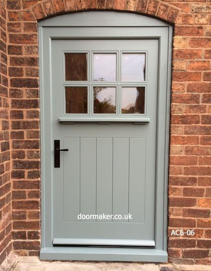 Photo of Arts and crafts door oval room blue