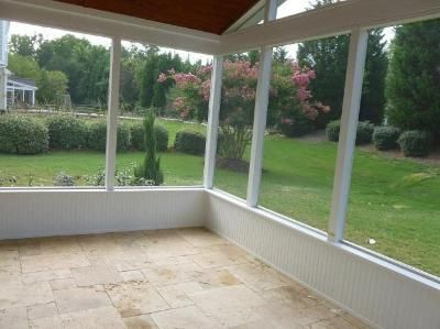 Screen Porch With Knee Wall For The Home Pinterest