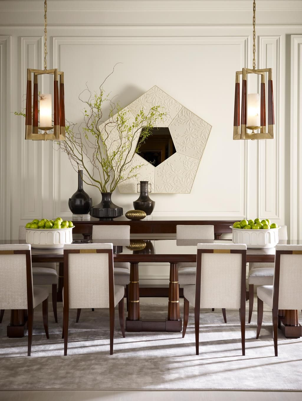 Love The Balance And Symmetry This Space Hasthomas Pheasant Amazing Modern Dining Room Design Decorating Inspiration
