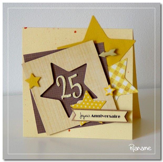 Favori Carte d'anniversaire 25 ans | Cartes | Pinterest | Anniversaires  AB31