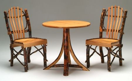 Round Log Dining Table Small Hickory Cabin Furniture  Woodland Fascinating Hickory Dining Room Sets Design Decoration