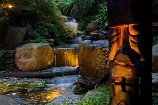 Wasser Garten Ideen Cool Ideen Holz Figur Stein