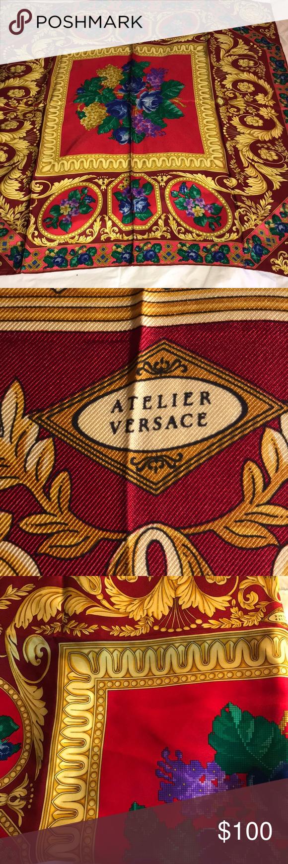 ff28e3d8 Atelier Versace silk foulard Versace Scarf | Square Scarf Versace ...