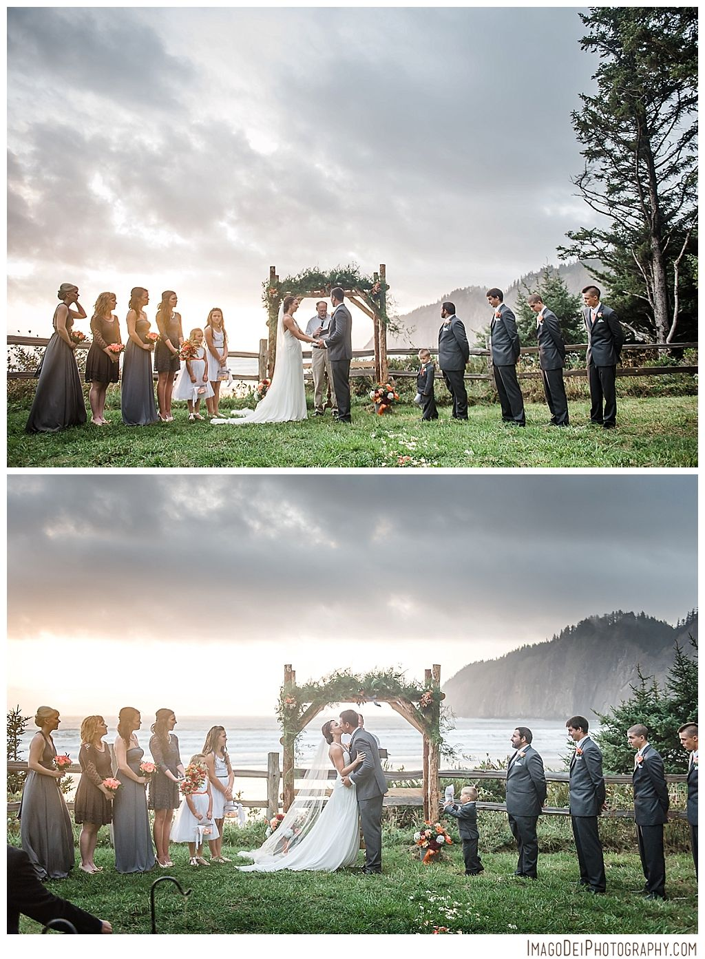 Wedding in the forest // Pacific City Oregon Wedding