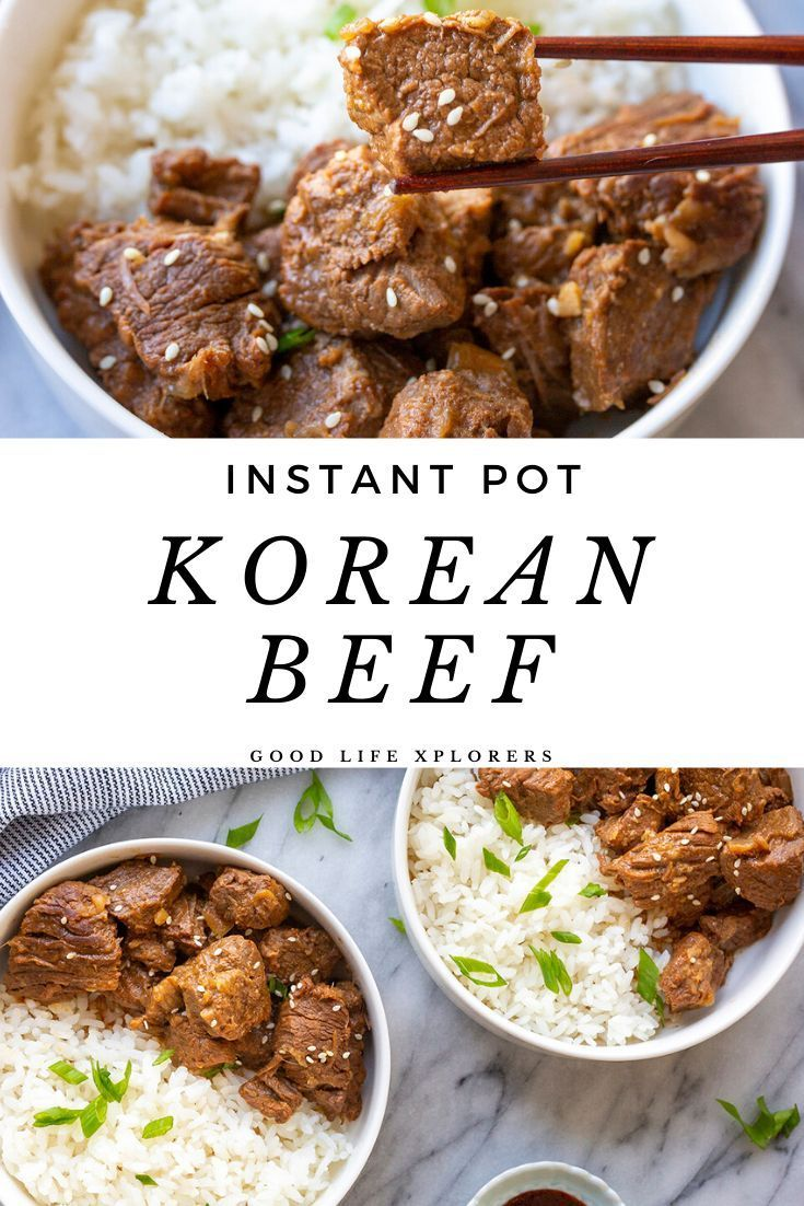 Easy Korean Beef Recipe | GOOD LIFE XPLORERS #fallbeefrecipes This Korean Beef recipe is easy to make in the Instant Pot and delicious served in a bowl with rice. #andrice #beef #bulgogi #dinner #easy #easydinnerrecipes #easyrecipes #fall #food #instantpot #instantpotrecipes #koreanbeef #koreanfood #recipes #winter #food #culture #SouthKorea #eats