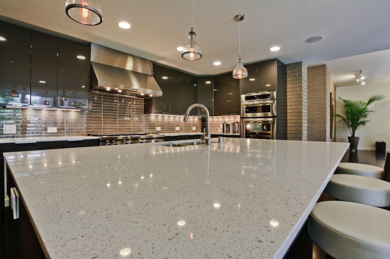Modern Kitchen Quartz Kitchen Countertops White Quartz
