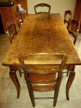 Antique Provençal French Country Table With Six Chairs Eclectic Dining Tables