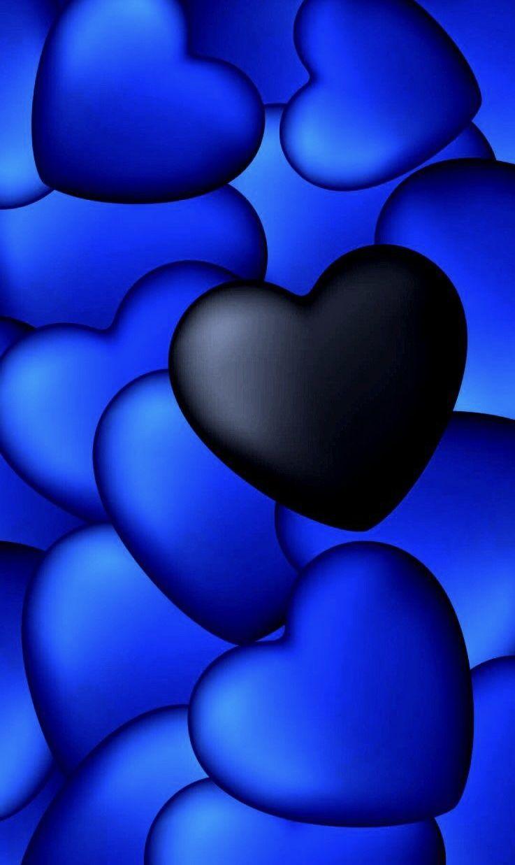 Pin By Mala Walker On Black Blue Heart Wallpaper Heart Iphone Wallpaper Cool Wallpapers For Phones