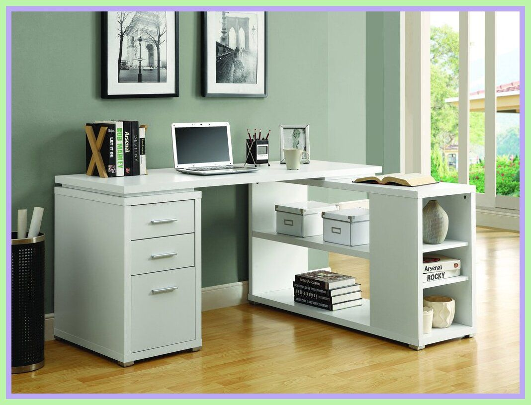 108 Reference Of White Desk With Storage Drawers In 2020 Home Office Shelves Best Home Office Desk White Corner Desk
