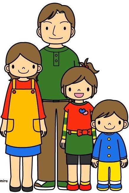 Demos Gracias A Dios Por Tener Una Familia Unida Y Feliz Que Nos Ayuda A Crecer En El Amor Family Drawing Cartoon Clip Art Family Illustration