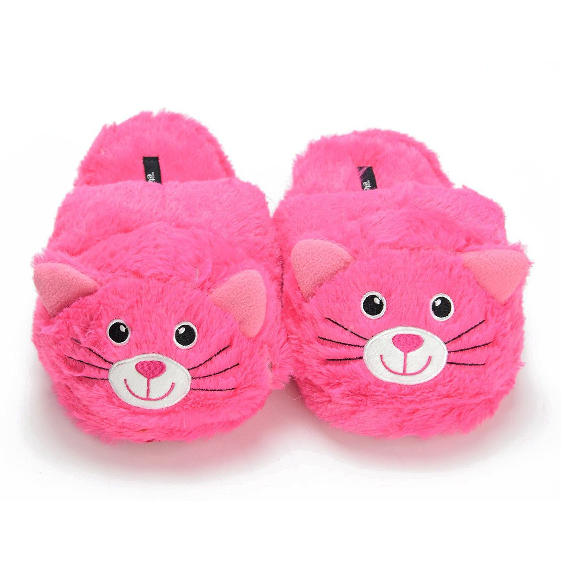 Women s Pink Cat Animal Slippers - Soft Cozy Warm Indoor Home Lady Slipper  Shoes 6052b7c9d