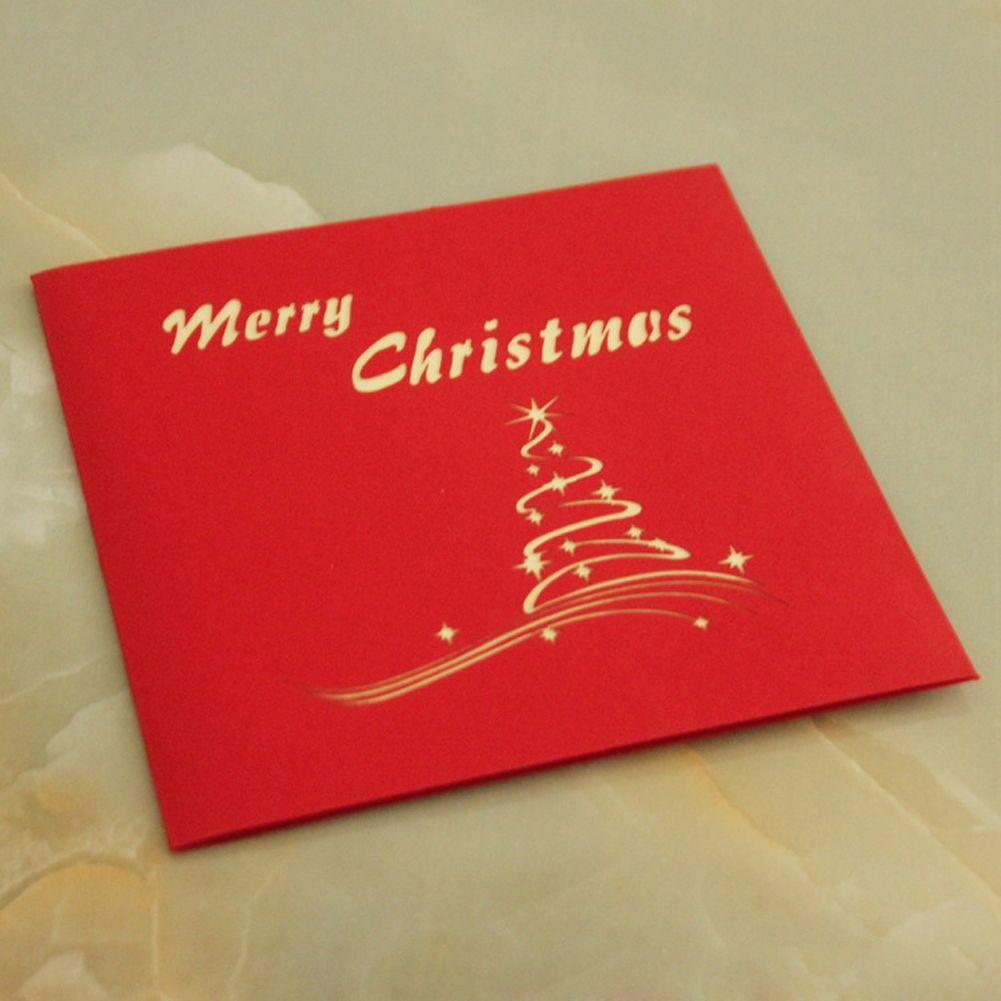 New merry christmas tree vintage 3d laser cut pop up paper handmade new merry christmas tree vintage 3d laser cut pop up paper handmade custom greeting cards souvenirs m4hsunfo