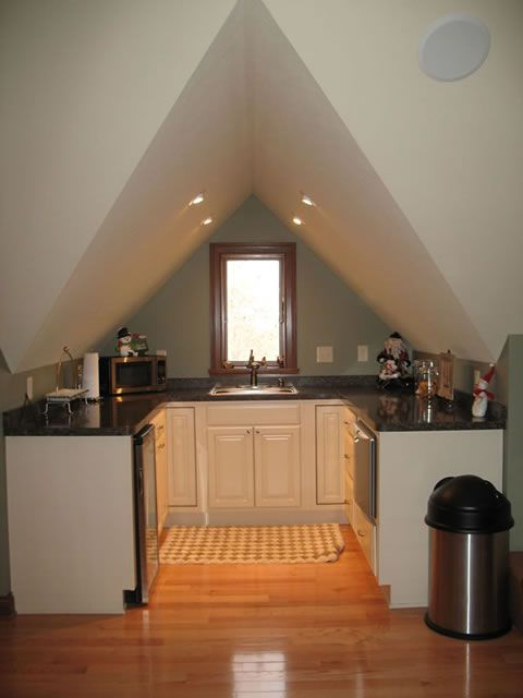 attic kitchen modern design Kitchen Pinterest