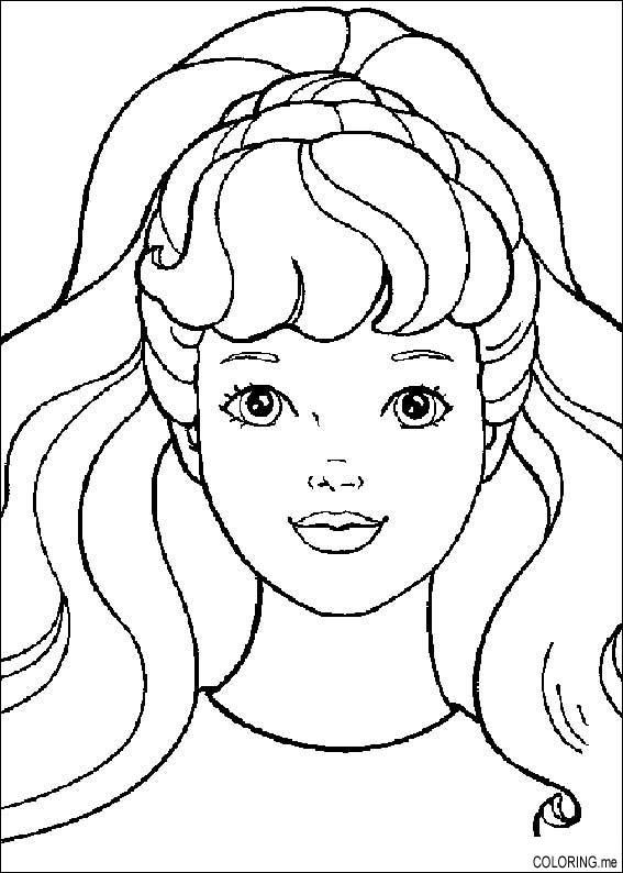 Coloring Pages For Barbie Make Up Barbie Coloring Barbie
