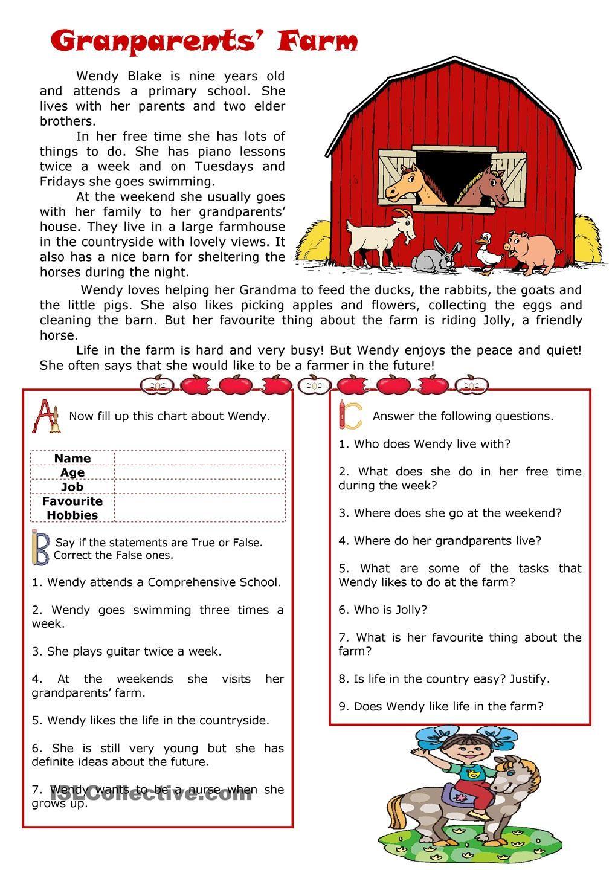 My Grandparents Farm Reading Reading Comprehension Texts Reading Comprehension First Grade Reading Comprehension [ 1440 x 1018 Pixel ]