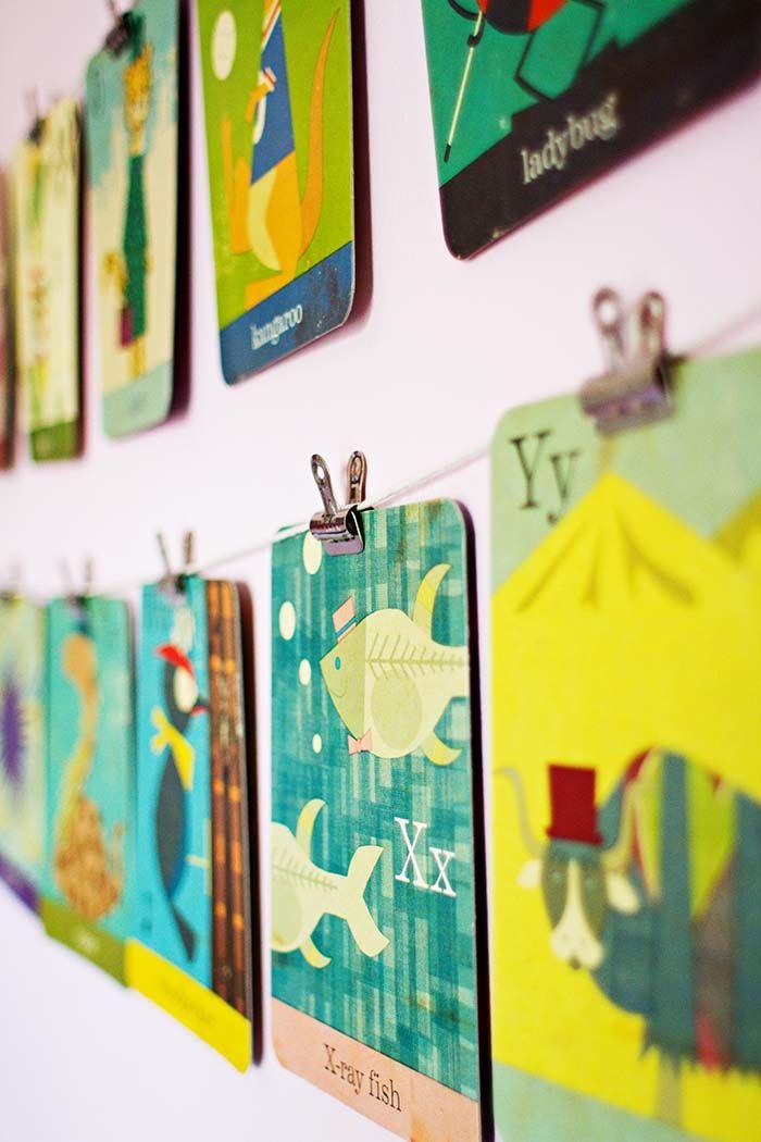 Flashcard Wall Art, Flashcard wall display, flashcard DIY project ...