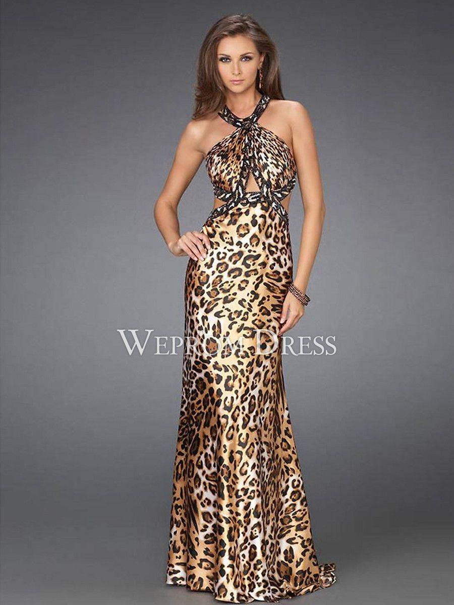 Multicolor leopard dress