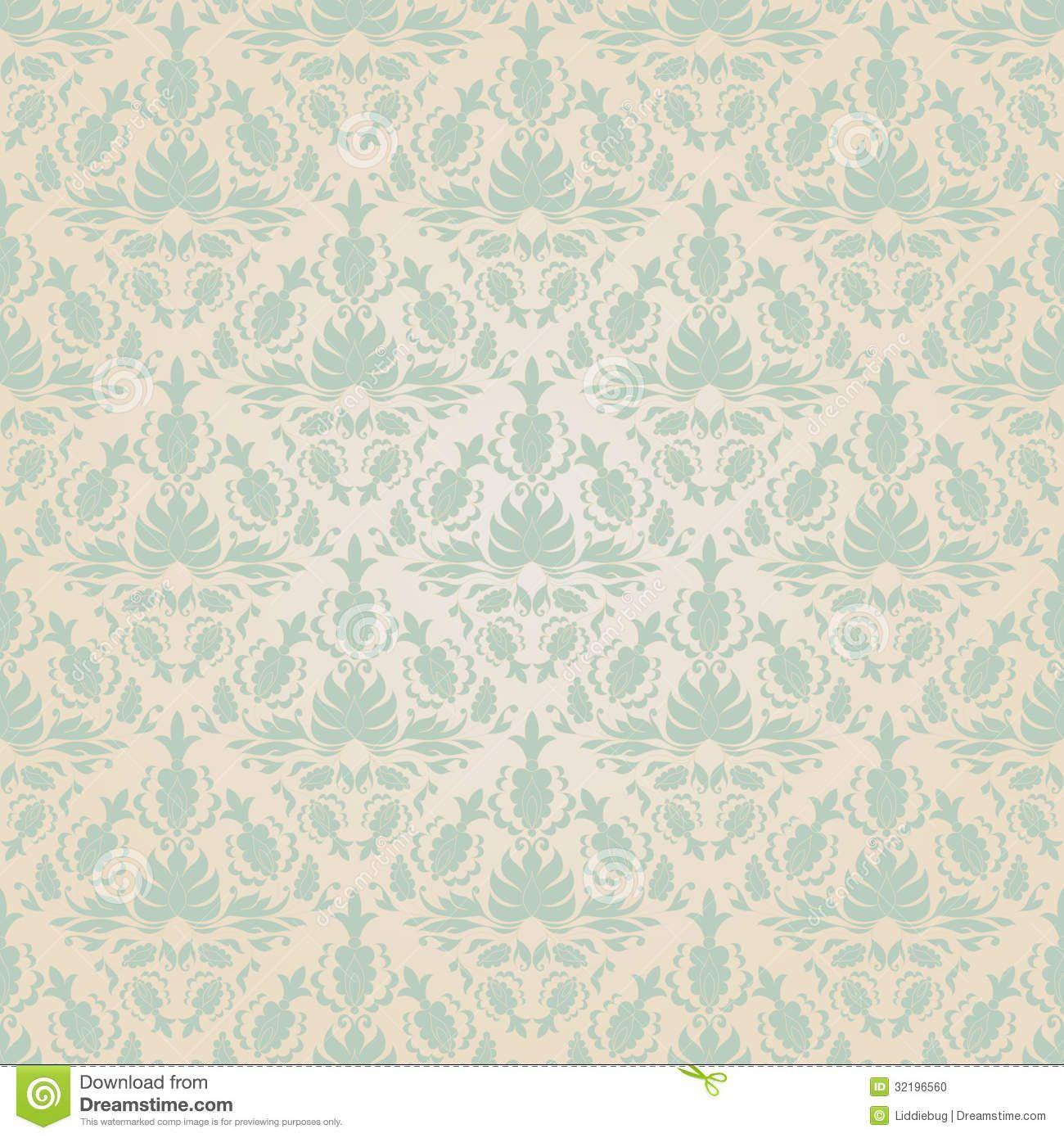 Seamless Vintage Wallpaper Pattern Stock Photo Image 32196560