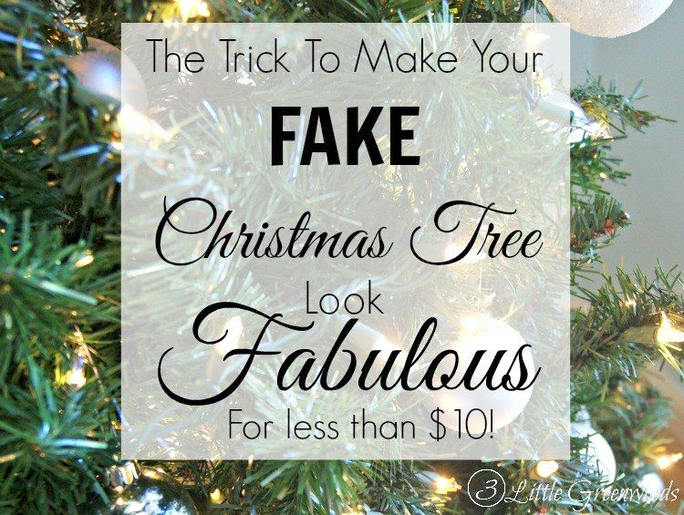 Today I am sharing my trick for making a sad, cheapo, fake tree look