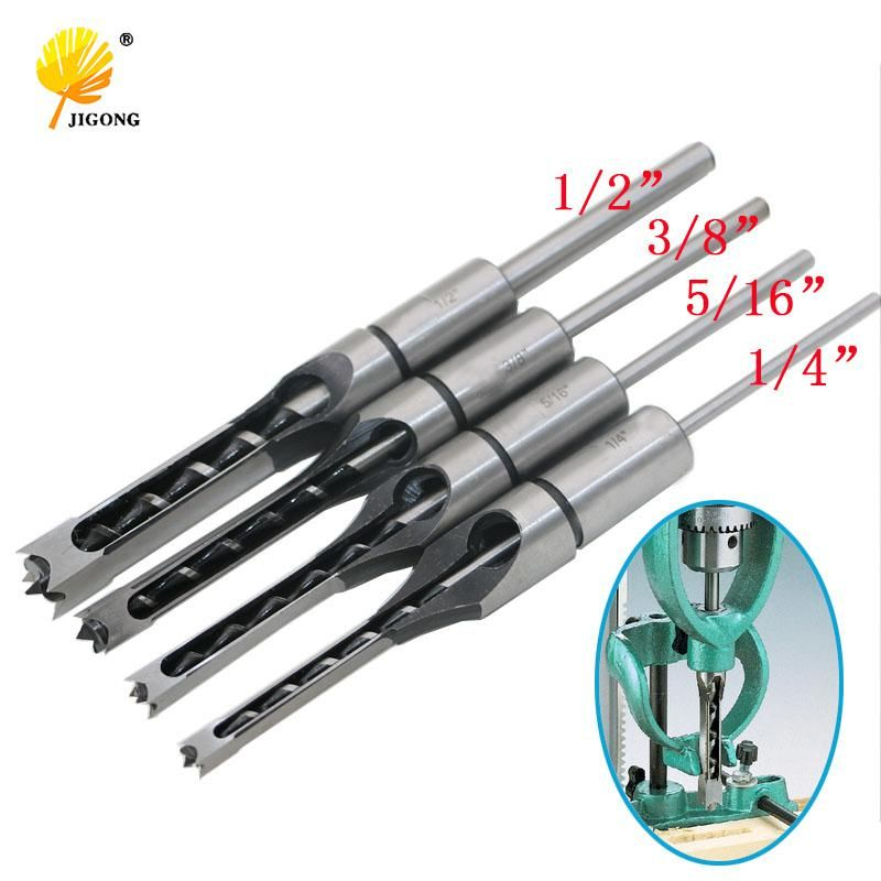 1 4 To 1 2 Inch Woodworking Mortising Chisel Set Wood Square Hole Drill Bit Set Auger Us 31 91 Drill Bit Sets Chisel Set Drill Bits