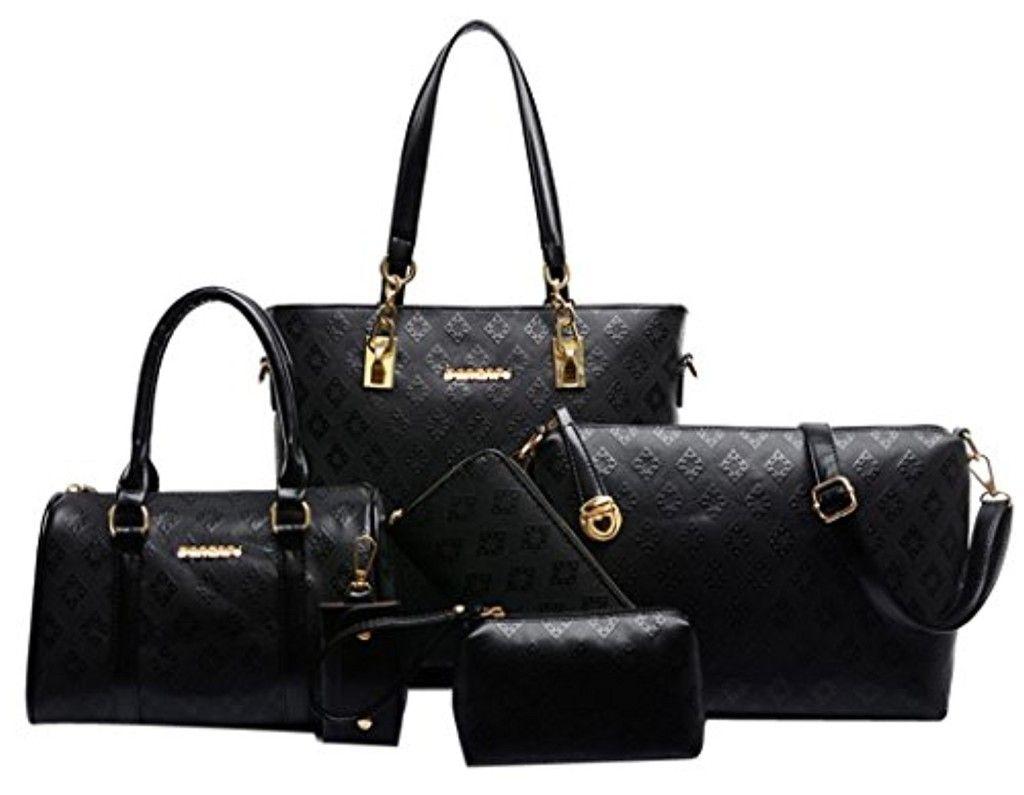 Coofit 3 pièces sac à main femme Sac porté épaule Sac bandoulière sac cuir femmeSacoche Vintage eKPNDyi3