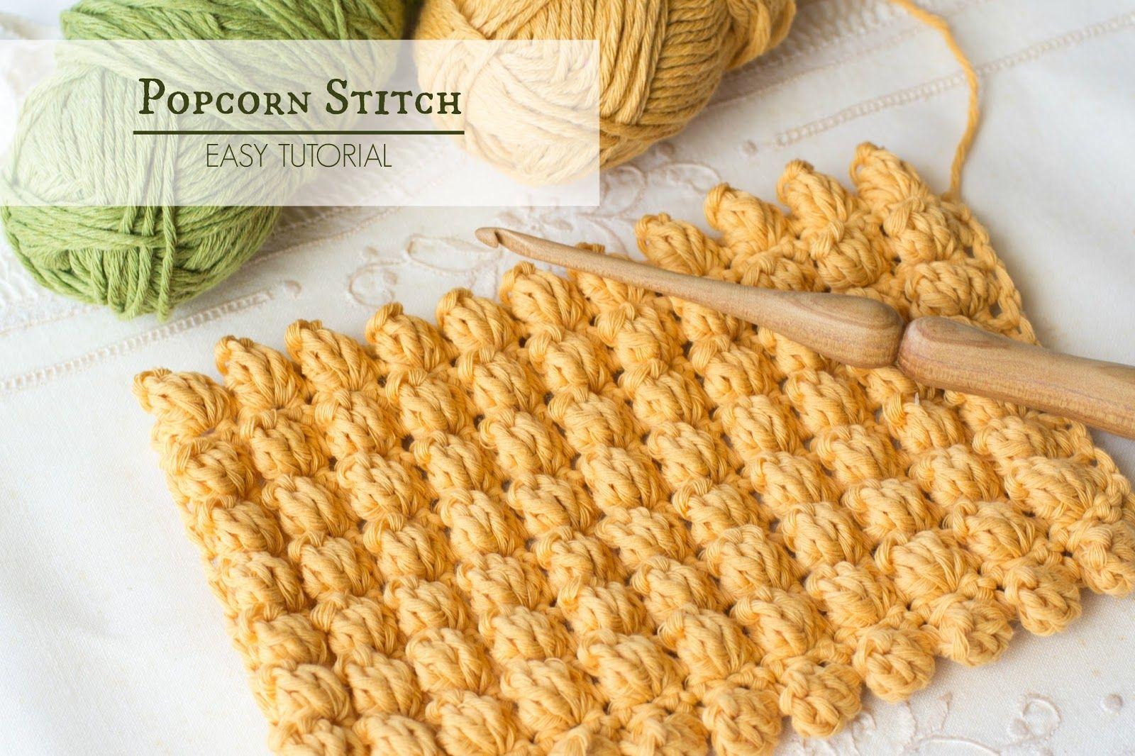 How To: Crochet The Popcorn Stitch - Easy Tutorial   Häckeln ...