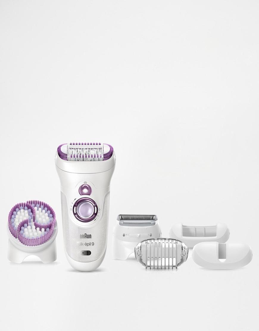 Braun Braun Silk Epil 9 Wet Dry Epilator Skin Spa With Cleansing Brush At Asos Braun Silk Epil 9 Skin Care Exfoliation Epilator