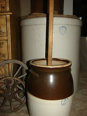 Antique Monmouth Pottery Butter Churn Crock 3 1800 S