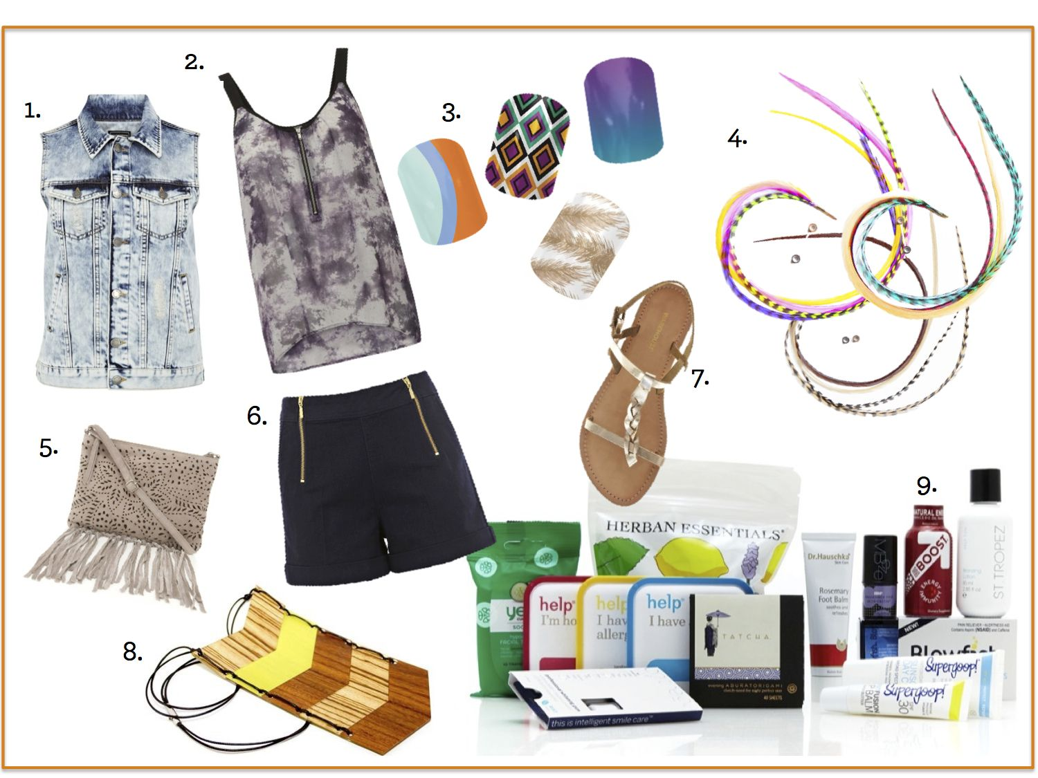 Whether you are going to Coachella or just want to emulate festival style these 9 products are must haves this Spring!