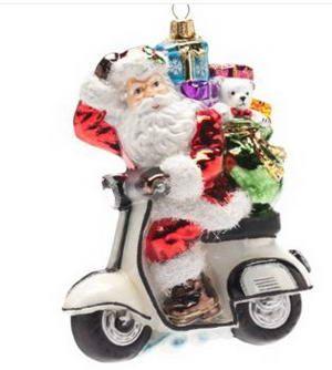 Christmas tree santa vespa scooter ornament for the for Vespa decoration