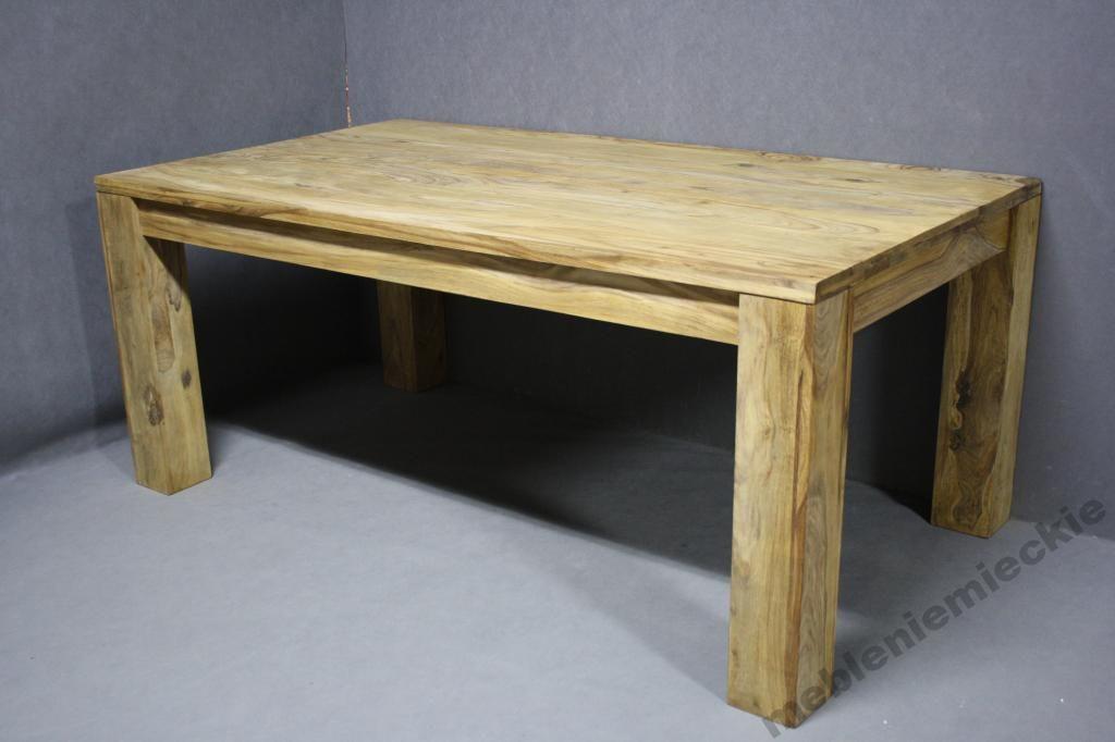 Stół Drewniany Palisander Stoły 100x180x76cm Brown