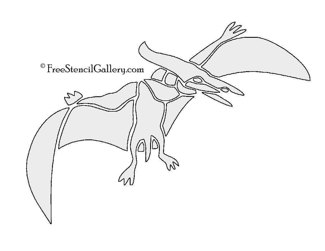 dinosaur pterodactyl stencil stencils pinterest stencils