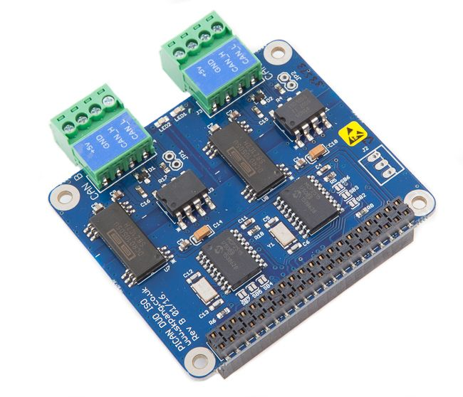 PiCAN2 Duo Isolated CAN-Bus Board for Raspberry Pi 2 [RSP-PICAN2DUO