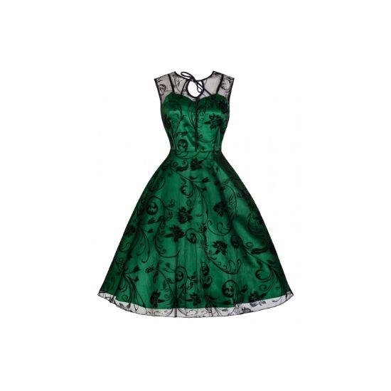Retro šaty Lindy Bop Frankie Jean Šaty ve stylu 50. let. Nádherné  slavnostní šaty vhodné pro společenské události - na ples cda6d3cd671