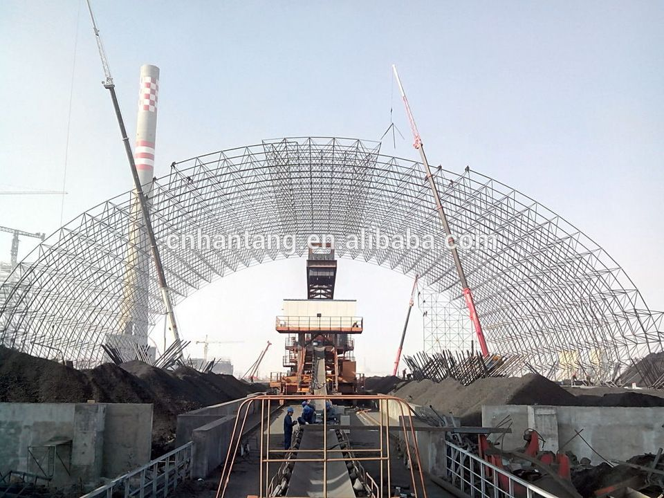 coal storage yard steel space frame roof system building | alibaba ...