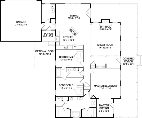 The southfork a house plan for gainesville ga house for Southfork ranch floor plan