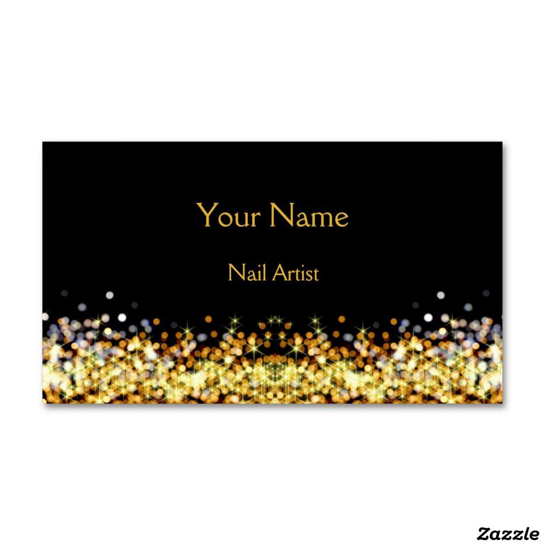 Elegant Nail Artist Business Card