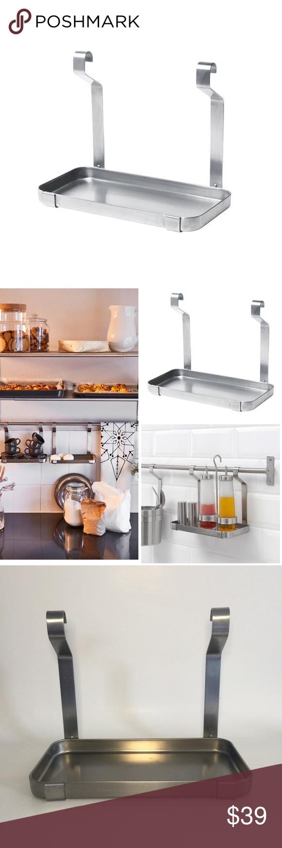 IKEA Grundtal Stainless Steel Spice Rail Shelf in 2020 ...