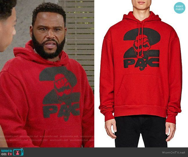 75ec76e8fb Andre s red 2pac hoodie on Black-ish. Outfit Details  https