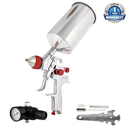 TCP Global Brand Professional HVLP Spray Gun with 1 4mm Fluid Tip