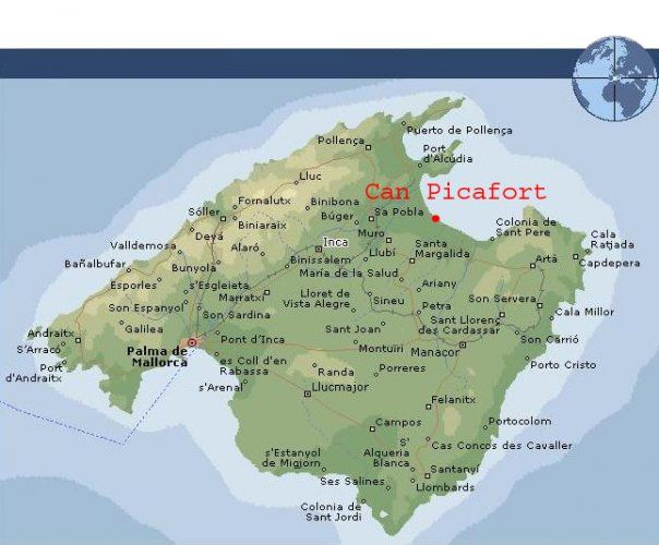 Can Picafort Map Can Picafort | mallorca | Majorca, Spain, Holiday time