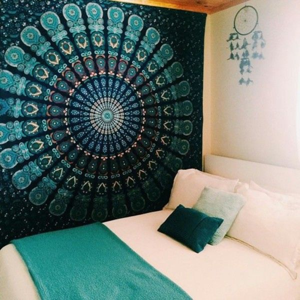 Bohemian Gypsy Mandala Bedroom Wall Decor Summer Beach Blanket With Bedroom Teal  Walls