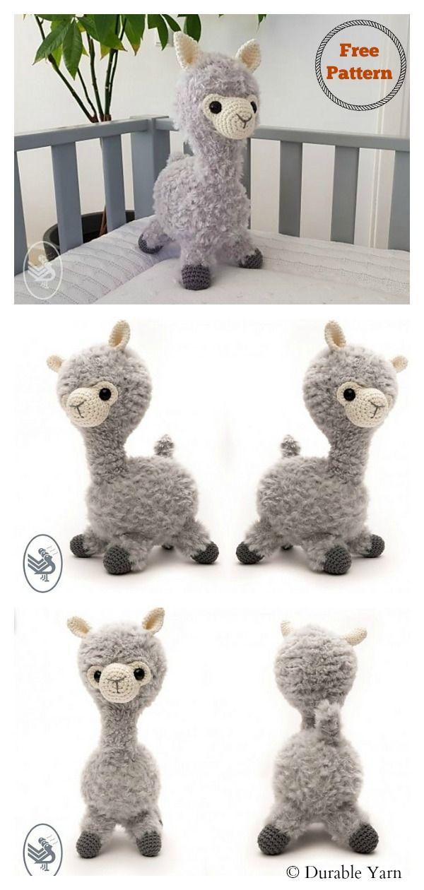6 Llama-No-Drama Amigurumi Free Crochet Pattern #crochetanimalamigurumi