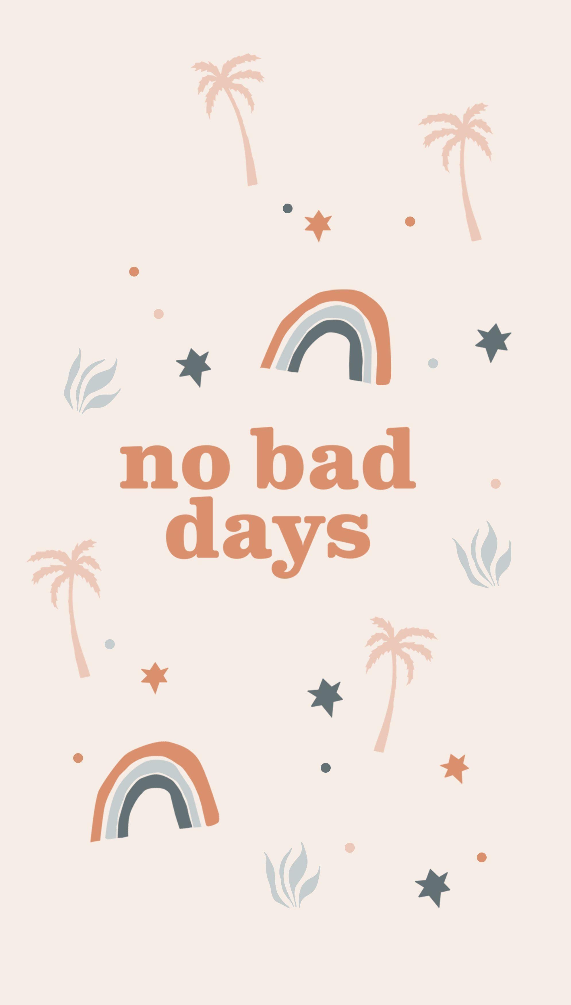 No Bad Days Phone Case #tropicalpattern No bad days tropical pattern phone case #phonecase