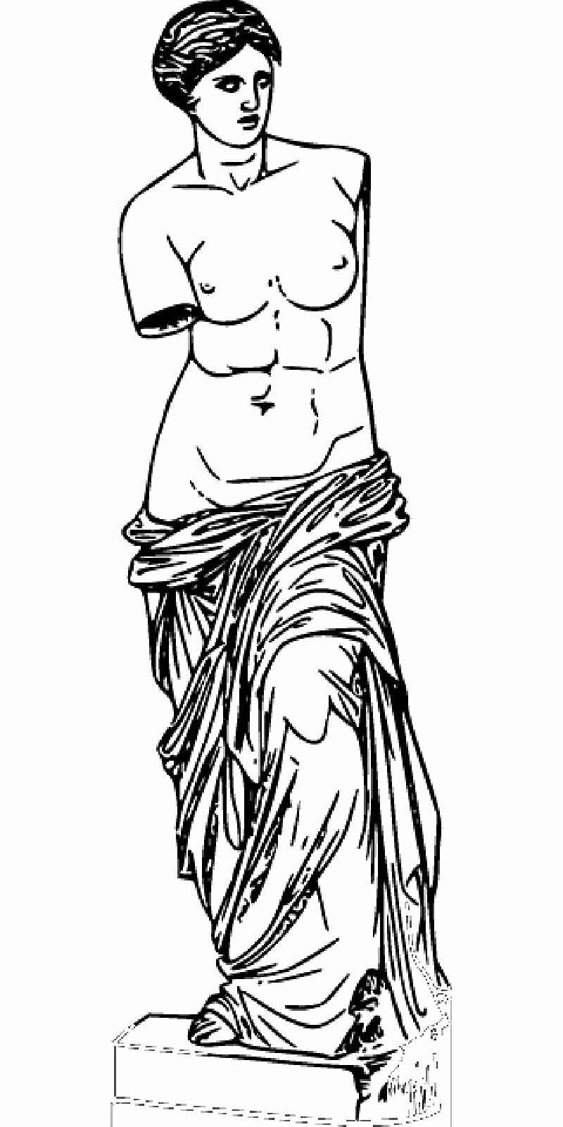 Venus Milo   Para colorear e ilustrar   Pinterest   Colorear