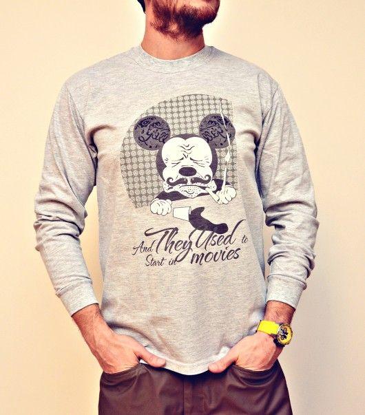 Moda Bluzy Mikey Super Star Longsleeve Graphic Sweatshirt Men Sweater Sweatshirts