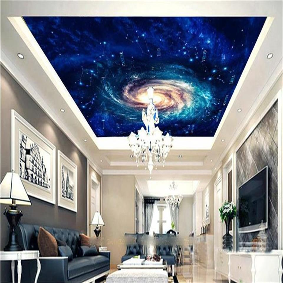 Custom Size 3d Wallpaper Ceiling Room Mural Photo Cosmic Vortex  Constellation Sky 3d Painting Wall Murals