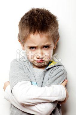 Enfant, Petits garçons, Contrarié, Colère, Furieux Photo libre de droits